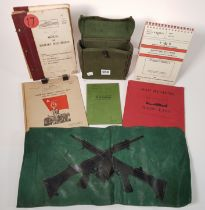 LOT OF BRITISH ARMY MANUALS, LEAFLETS AND RARE 58 PATTERN POUCH