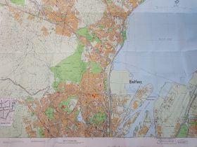 1995 BRITISH ARMY/RUC MAP OF BELFAST