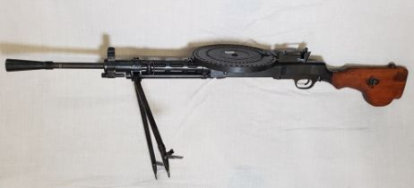 DEACTIVATED DEGTYARYOV MACHINE GUN OR DP-27 PRIMARILY USED BY THE SOVIET UNION STARTING IN 1927.