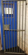 HEAVY LONG KESH PRISON GATE BELIEVED TO BE FROM H5. IT HAS 'UVF'SCRATCHED ON THE ONE OF THE INNER