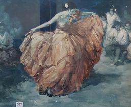 Retro spanish dancer 'The Red Skirt'