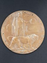 Military death penny plaque