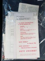 Collection of early 1970's loyalist ephemera
