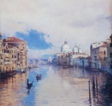 Large framed picture 'The Grand Canal' purchased from Hanna + Brown