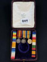 Cased set of miniature medals