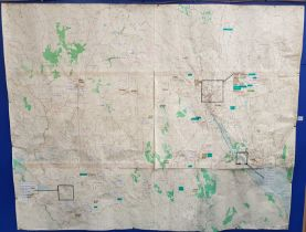 LARGE MAP FROM BESSBROOK MILL WHICH IDENTIFIES MILITARY AND ROYAL ULSTER CONSTABULARY CASUALTIES/