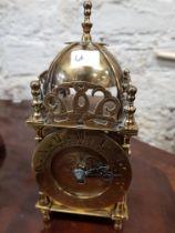 ANTIQUE LANTERN CLOCK AND KEY
