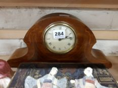 INLAID MANTLE CLOCK
