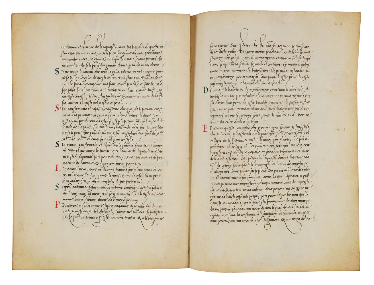 Leaves with the regulations of a mercantile fleet that set sail from Venice on 21 May 1504 for Al - Image 7 of 9