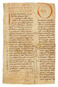 Three cuttings from a large and elegant Carolingian copy of Gregory the Great, Homiliary, in Latin