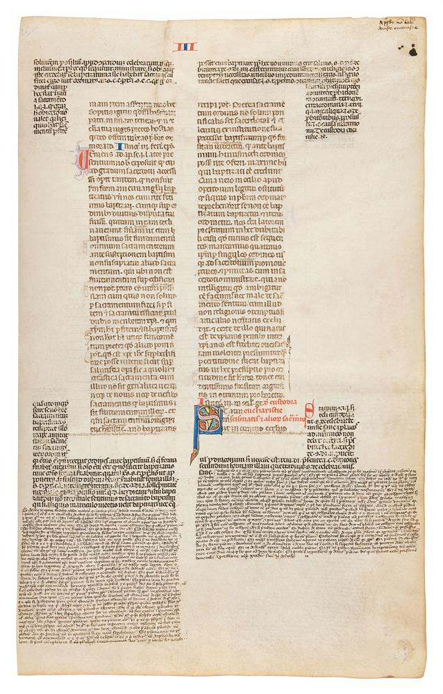 Collection of leaves from legal manuscripts, in Latin, on parchment [thirteenth to fourteenth cen
