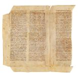 Fragment of a bifolium from Gregory the Great, Moralia in Job, in Latin, manuscript on parchment