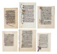 Collection of leaves from Psalters, in Latin, decorated or illuminated manuscripts on parchment