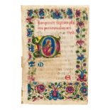 Collection of leaves from Italian illuminated manuscripts, in Latin, on parchment [fourteenth and