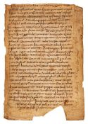 Leaf from a copy of Gregory the Great, Moralia in Job, in pre-Caroline Germanic minuscule, in Latin