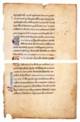 Leaf from a treatise on the Calendar, in Latin, finely decorated manuscript on parchment [France