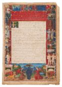 The frontispiece leaf from an extremely early copy of the Apocalypsis Nova, attributed to the mys