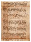 Leaf from an early Noted Missal, in Latin, decorated manuscript on parchment [Germany, eleventh