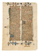 Collection of leaves from devotional books, in Latin, illuminated manuscripts on parchment [Engla