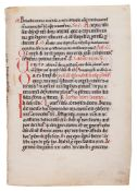 Leaf from a Missal, of Cistercian Use, in Latin, decorated manuscript on parchment [Austria or