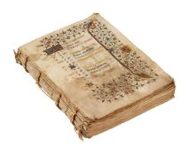 Ɵ Book of Hours, Use of Besançon, in Latin and French, illuminated manuscript codex on parchment