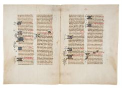 Collection of leaves from medieval manuscripts, in Latin, on parchment [France, fifteenth century]