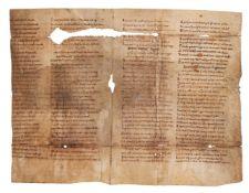 Bifolium from a copy of Hrabanus Maurus, De Laudibus Sanctae Crucis, in Latin verse, manuscript