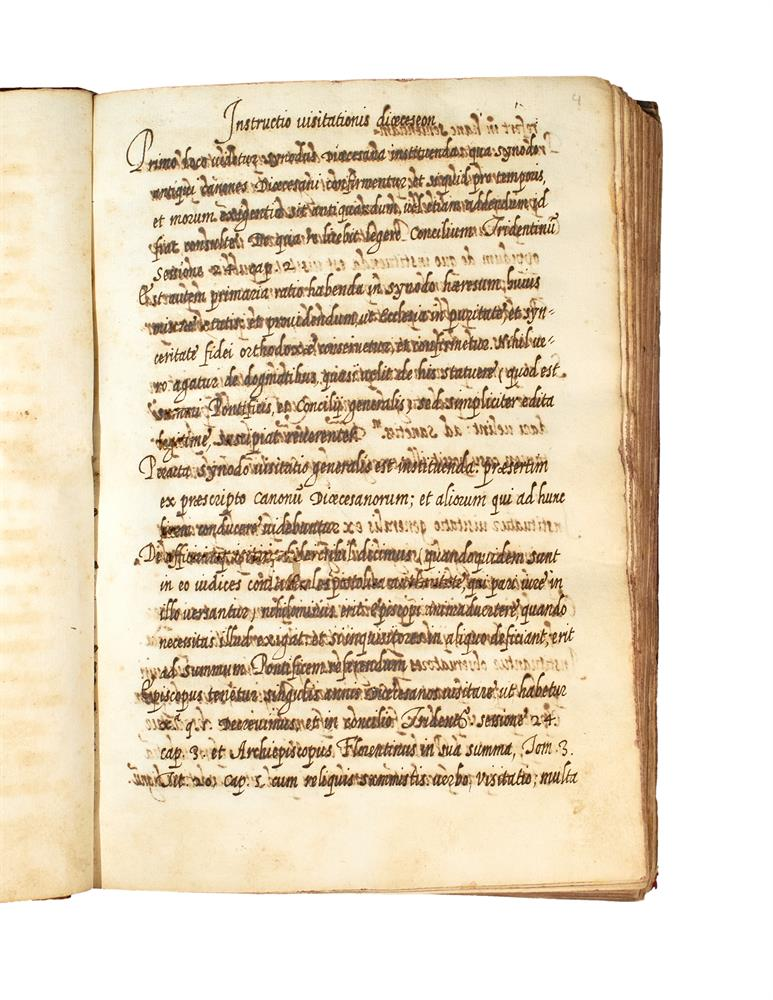 Ɵ Lucio Croce or Diego Laínez, Instructio Visitationis Dioeceseon, and other texts relevant to bish - Image 2 of 2