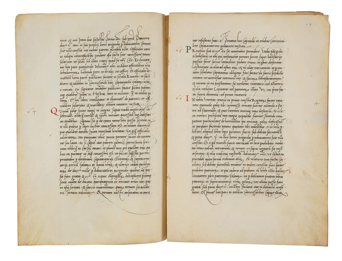 Leaves with the regulations of a mercantile fleet that set sail from Venice on 21 May 1504 for Al - Image 4 of 9