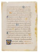 Leaf from the Psalter with Passion Sequences copied by Pietro Ursuleo of Capuo, in Latin, opulent