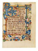 Leaves from an English Book of Hours, Use of Sarum, in Latin, illuminated manuscript on parchment