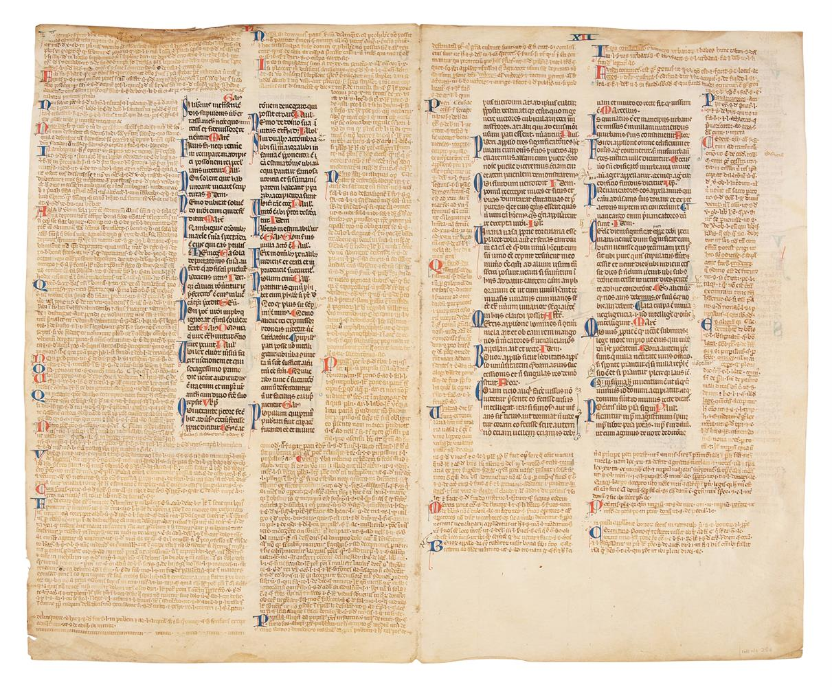 Collection of leaves from legal manuscripts, in Latin, on parchment [thirteenth to fourteenth cen - Image 8 of 8
