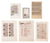 Collection of leaves from devotional books, in Latin, decorated or illuminated manuscripts on par
