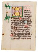 Two cuttings with illuminated initials from a copy of Augustine, Tractate on John, in Latin, manu