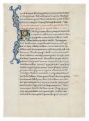 Leaf from Seneca the younger, Epistulae Morales ad Lucilium, in fine humanist script, in Latin,