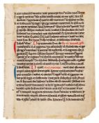 Leaf from a Lectionary, in Latin, decorated manuscript on parchment [Germany, early thirteenth ce