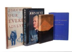 Ɵ HUNT, John. Four Works: three vols. SIGNED by the author, with a related SIGNED vol.1954-1978.