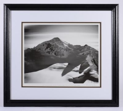 PHOTOGRAPH: BRADFORD WASHBURN. (1910-2007). Late Afternoon, Mount Fairweather, 1979. SIGNED.