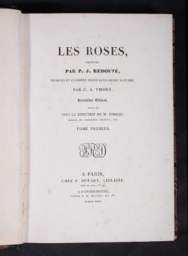 Ɵ REDOUTE, P.J. and THORY, C.A. Les Roses . . third edition, 3 volumes,1835.