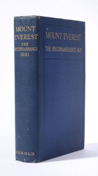 Ɵ HOWARD-BURY, C.K. Mount Everest The Reconnaissance 1921. SIGNED by 7 Expedition members. 1922.