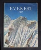 Ɵ ROCHE, Andre. Everest 1952. SIGNED by Tenzing Norgay, and two team members, Jeheber,1952.