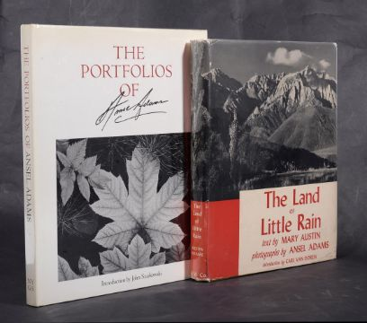 Ɵ ADAMS, Ansel. Presentation copies. two first editions,, 1950 - 1977. (2)