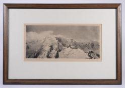 PHOTOGRAPH: FRANK SMYTHE. (British, 1900 - 1949). Fiescherhorn - Near Grindelwald. SIGNED.