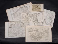 Ɵ MAPS: United States, China, & Europe. a group of six maps and plans. c.1628-1799. (6)