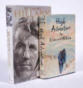 Ɵ HILLARY, Edmund. (1919-2008). Two Works: first editions, SIGNED, 1955-1999.