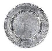 A Charles II pewter triple-reeded dish, circa 1680