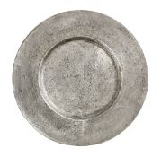 A Charles II pewter broad rim charger, circa 1660-80