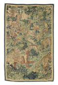 A 16th century 'Game Park' tapestry section, Flemish