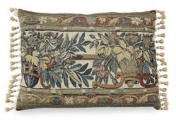 A 17th century tapestry cushion