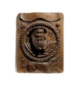 A good Henry VIII carved oak Romayne-type panel, circa 1530-40
